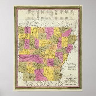 New Map Of Arkansas 2 Poster