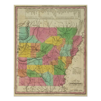 New Map Of Arkansas Posters
