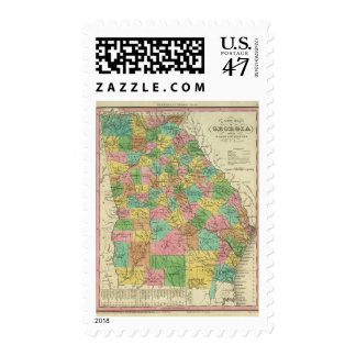 New Map Of Georgia 2 Postage Stamp