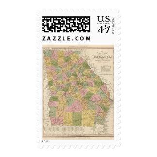 New Map Of Georgia Postage