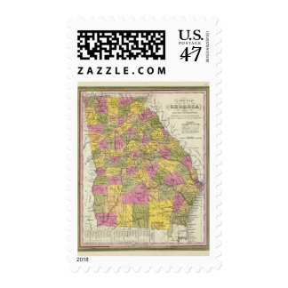 New Map Of Georgia Postage Stamp