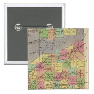 New Map Of Indiana Button