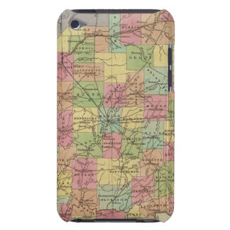 New Map Of Indiana iPod Case-Mate Case