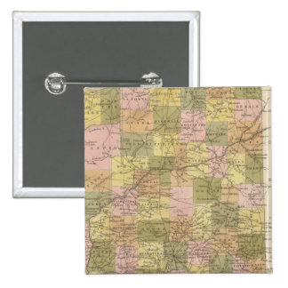 New Map Of Indiana Pinback Button