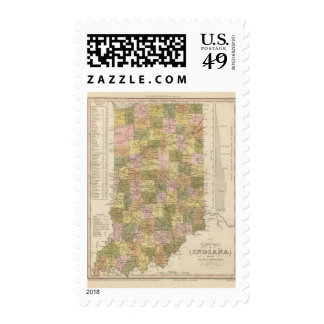 New Map Of Indiana Postage