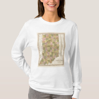 New Map Of Indiana T-Shirt