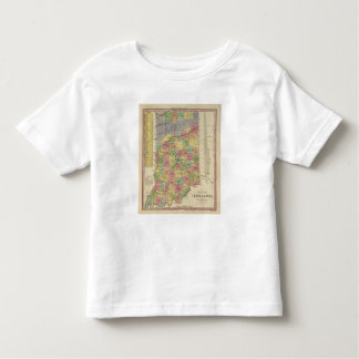 New Map Of Indiana Tee Shirt
