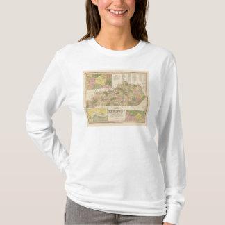 New Map Of Kentucky 2 T-Shirt
