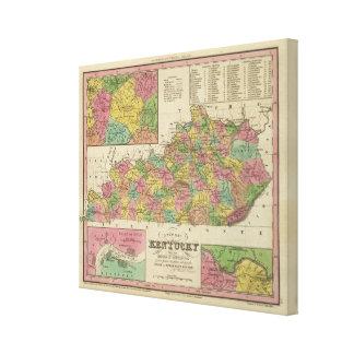 New Map Of Kentucky Canvas Print