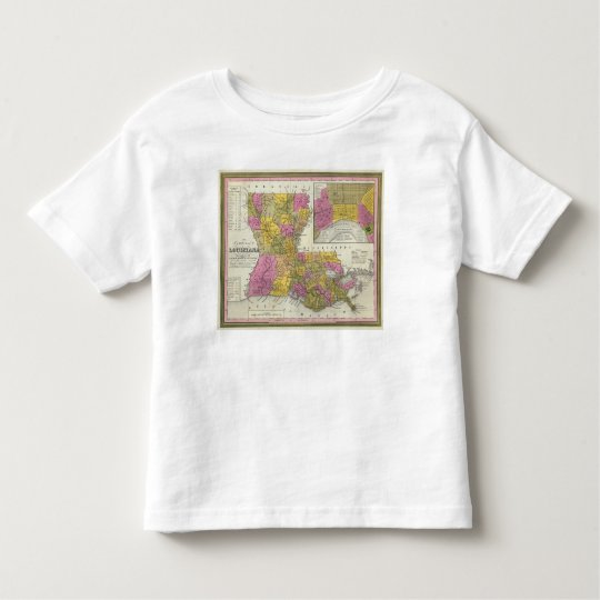 New Map Of Louisiana 3 Toddler T-shirt