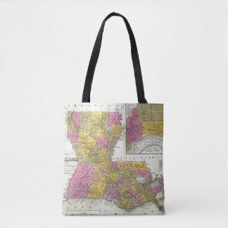 New Map Of Louisiana 3 Tote Bag
