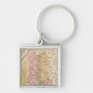 New Map of Maine Keychain
