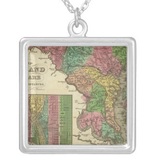 New Map Of Maryland and Delaware 2 Jewelry