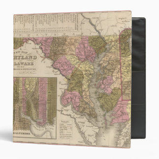 New Map Of Maryland and Delaware Binder