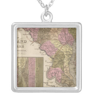 New Map Of Maryland and Delaware Necklaces