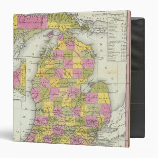 New Map Of Michigan 2 3 Ring Binders