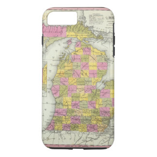 New Map Of Michigan 2 iPhone 8 Plus/7 Plus Case