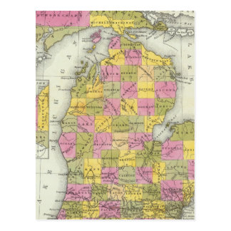 New Map Of Michigan 2 Postcard