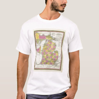 New Map Of Michigan 2 T-Shirt