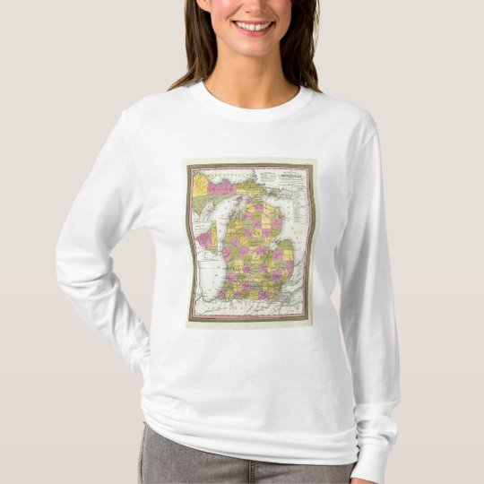 New Map Of Michigan 2 T-Shirt