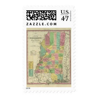 New Map Of Mississippi 2 Postage