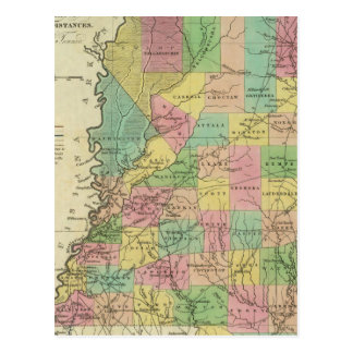 New Map Of Mississippi 2 Postcard
