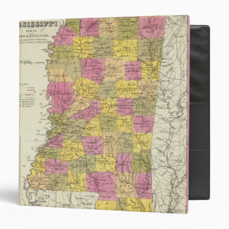 New Map Of Mississippi 3 Ring Binders
