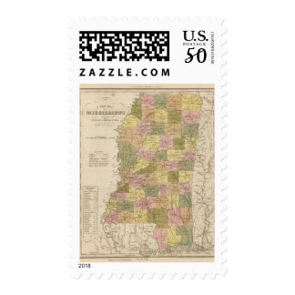 New Map Of Mississippi Postage