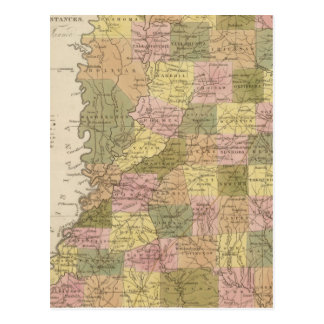 New Map Of Mississippi Postcard