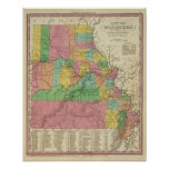 New Map Of Missouri Poster