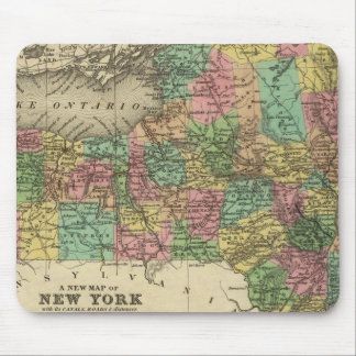 New Map Of New York Mouse Pad