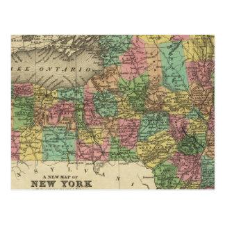 New Map Of New York Postcard
