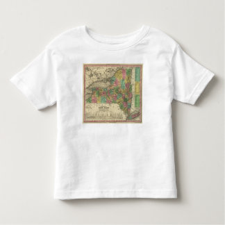 New Map Of New York Tshirts