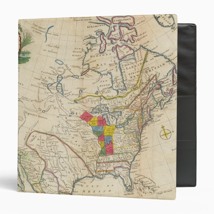 New Map of North America 3 Ring Binder