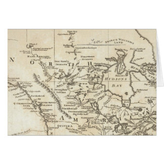 New Map of North America Greeting Card
