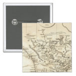 New Map of North America Pinback Button