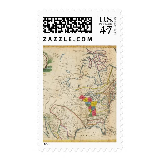 New Map of North America Postage