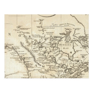New Map of North America Postcard