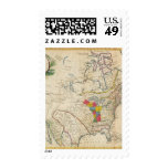New Map of North America Stamp