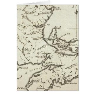 New Map of Nova Scotia, New Brunswick Card