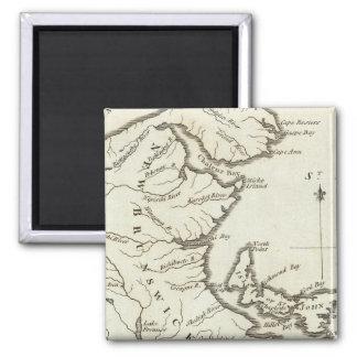 New Map of Nova Scotia, New Brunswick Fridge Magnet