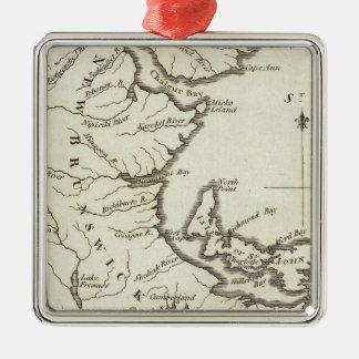 New Map of Nova Scotia, New Brunswick Christmas Tree Ornaments