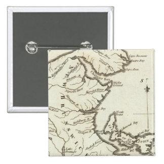 New Map of Nova Scotia, New Brunswick Pinback Button
