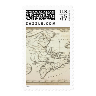 New Map of Nova Scotia, New Brunswick Postage