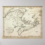 New Map of Nova Scotia, New Brunswick Poster