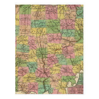 New Map Of Ohio 2 Postcard