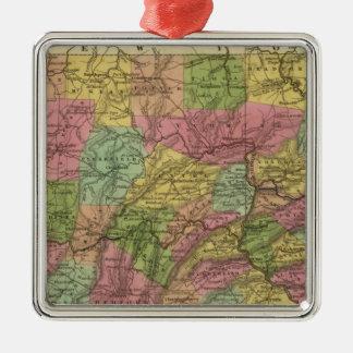 New Map Of Pennsylvania Metal Ornament