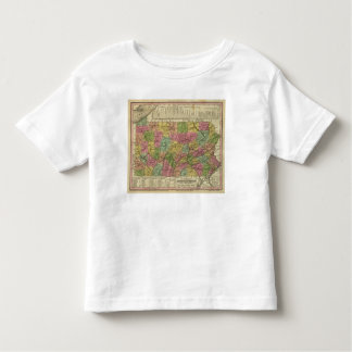 New Map Of Pennsylvania Toddler T-shirt