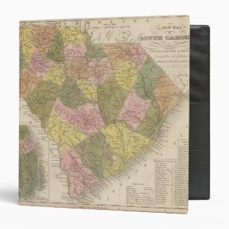 New Map Of South Carolina 2 3 Ring Binders