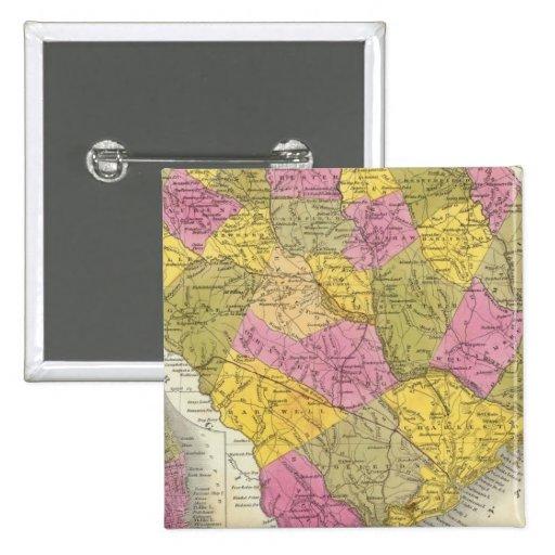 New Map Of South Carolina Pinback Button